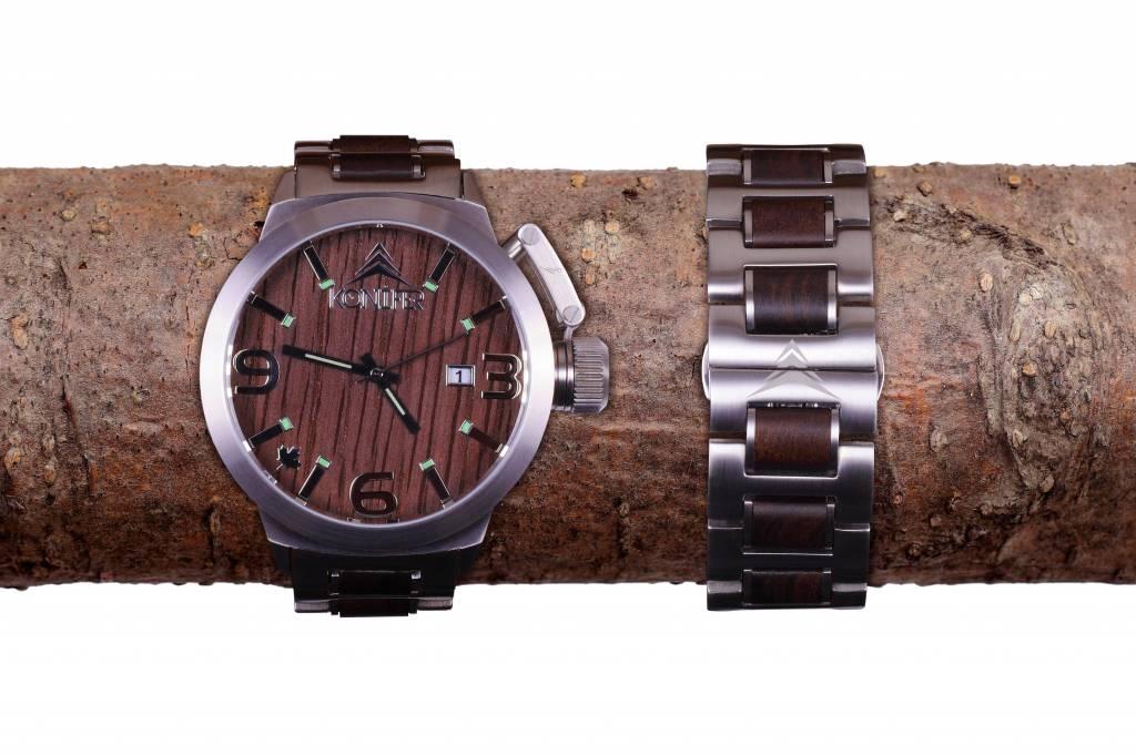 Montre Konifer Karbon Stainless Black chez Octeau Joaillier et Horloger