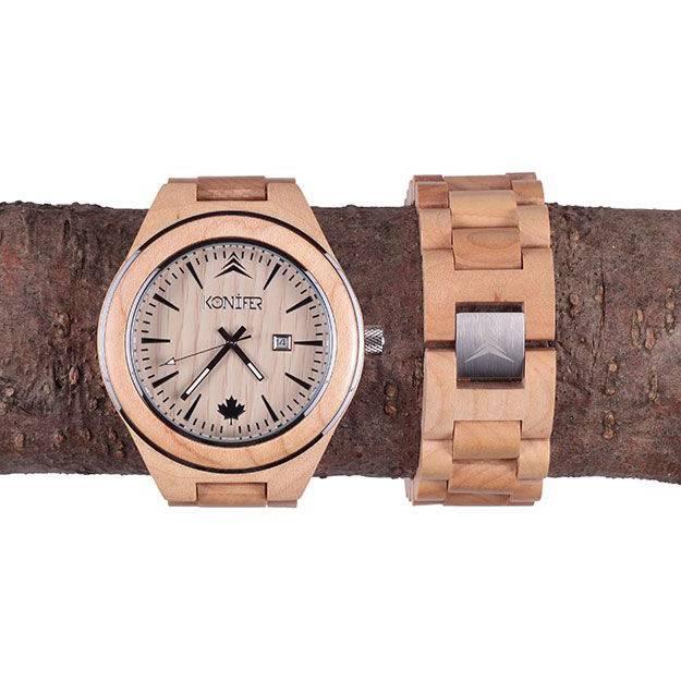 Montre Konifer Sequoia Erable chez Octeau Joaillier et Horloger