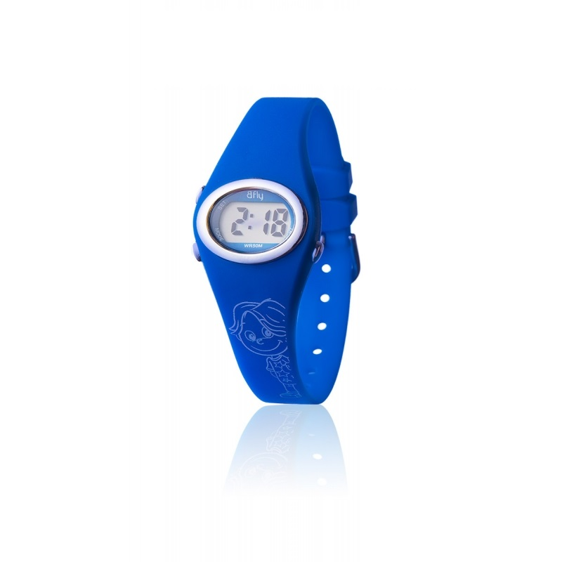 DW1-NISE octeau joaillier montre enfant digital bfly bleu