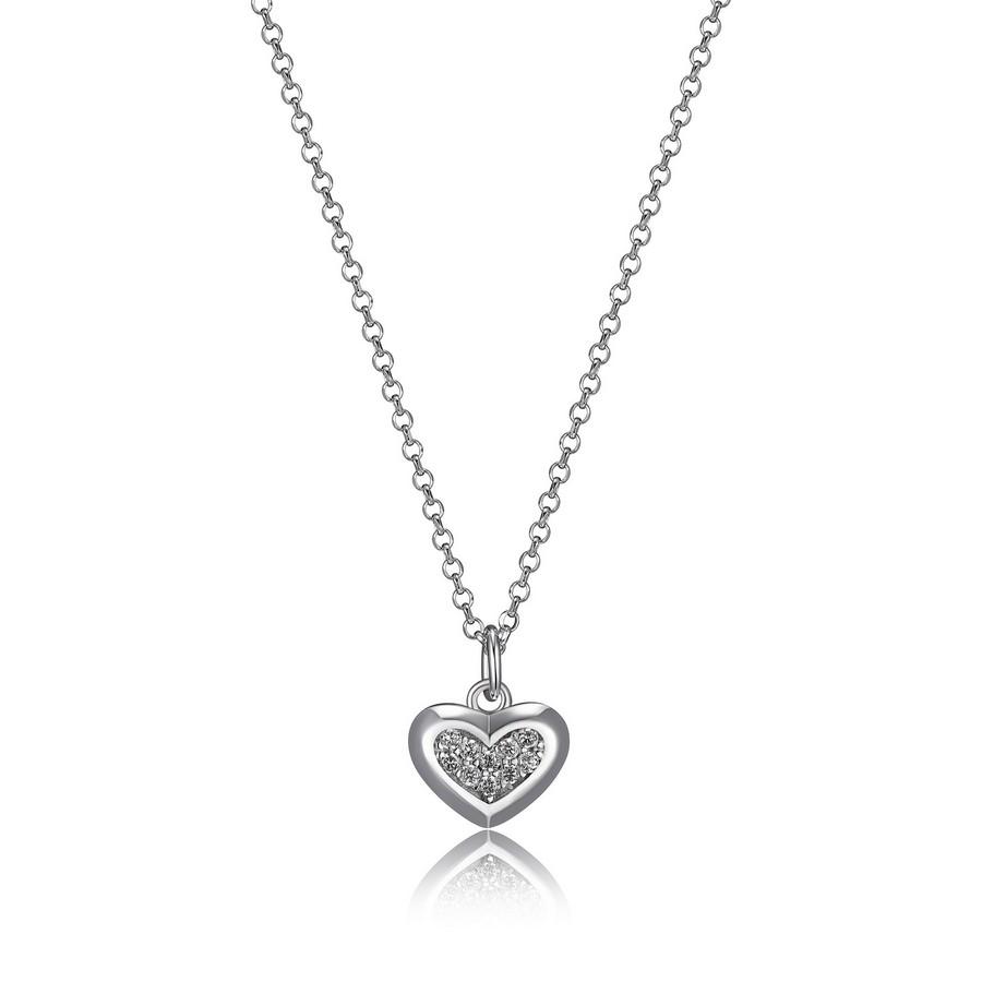 collier coeur de la collection elle en argent 925 avec zircon