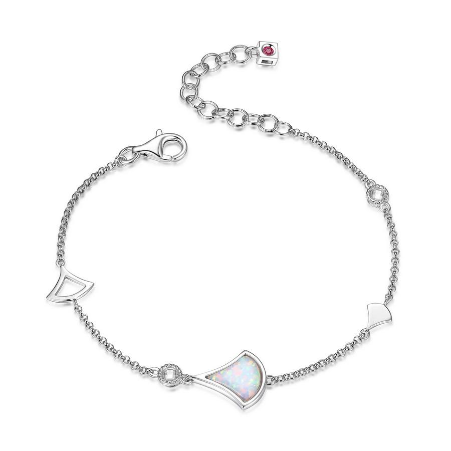Bracelet de la collection elle en argent 925 avec zircon et opal